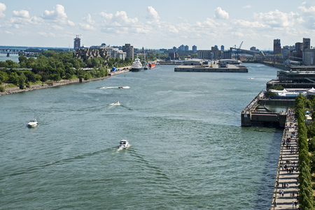 Partial view of the Port of Montreal, Quebec, Canada Stok Fotoğraf