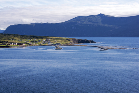 View of Rocky Harbour in northwestern Newfoundland, Canada