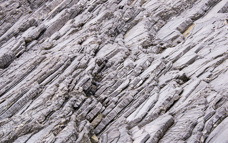Stone formation on the Gulf of St. Lawrence coast in Newfoundland Stock Photo