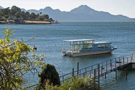 excursion: Excursion boat on Lake Atitlan, Guatemala Stock Photo