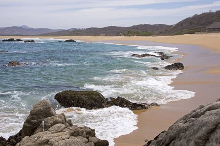 corrientes: Sandy coast on the Mexican Pacific Ocean, Cabo Corrientes