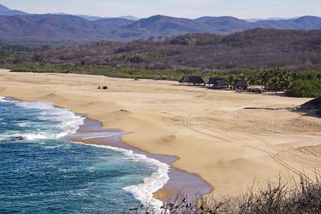 corrientes: Remote Pacific Ocean beach in Cabo Corrientes, Mexico Stock Photo