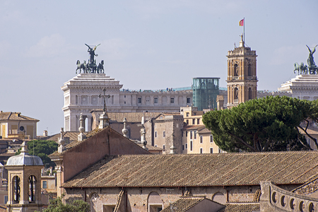 Roman architecture, background Altare della Patria, Rome, Italy Reklamní fotografie