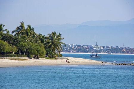 Pacific Ocean beach in La Cruz de Huanacaxtle, Mexico