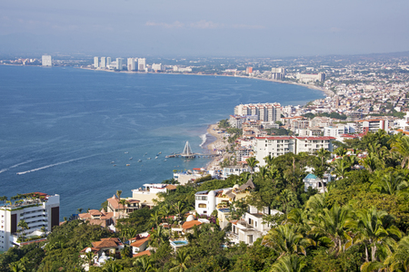 View of Puerto Vallarta from the south, Mexico Stock Photo