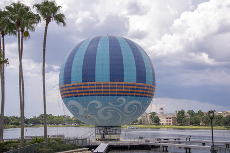 Gas ballon tethered by a lake in Florida, USA Stock Photo