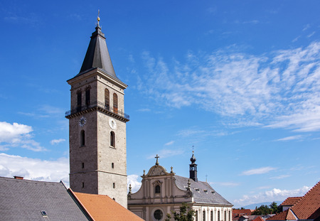 Gothic tower from the Middle Ages in Judenburg, Austria Stock Photo