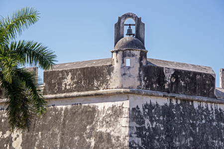 Spanish colonial bulwark with watchtower, Campeche, Mexico