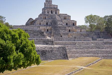 Ancient Mayan acropolis, Edzna, Yucatan, Mexico Stock Photo