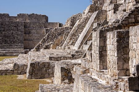 Ruins of the Maya civilization in Edzna, Campeche, Mexico