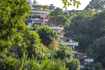 Terraced homes in Puerto Vallarta, Mexico