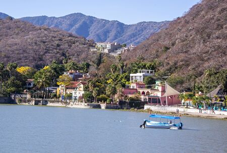 Mexican lakeside village on Lake Chapala, Jalisco