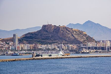 Seaside town of Alicante with Mount Benacantil, Spain