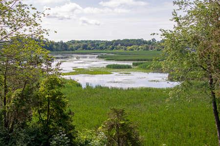 Serene lagoon in Prince Edward County, Ontario, Canada