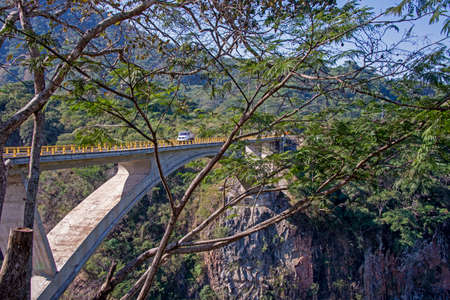 Bridge in the Sierra Madre mountains in Mexico
