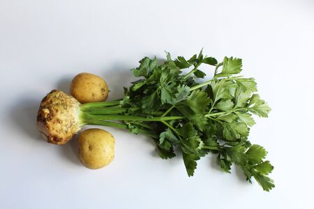 Celery root and two potatoes
