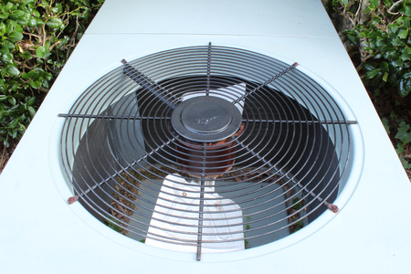Top view of a typical heat pump