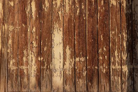 Detail of heavily weathered wood, building exterior, cracked peeling paint, desert southwest, horizontal aspect