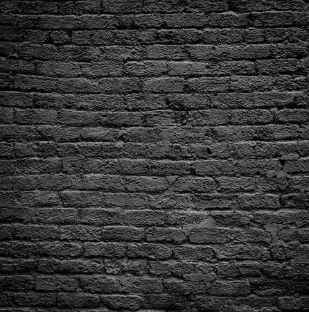 Large brick wall pattern painted black