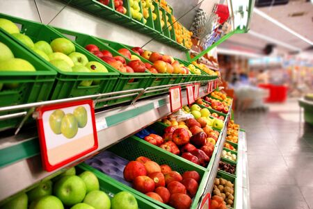 Fruit in the supermarket