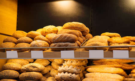 Bread is on the counter in the store photo