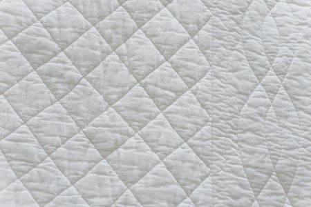 quilted: Quilted White Natural Textiles Stock Photo