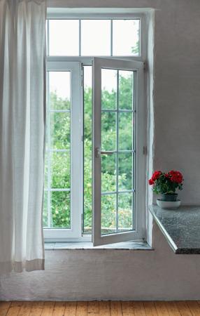 Open window in the room Archivio Fotografico