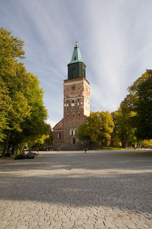 turku: Turku Cathedral, the central church of the Archdiocese of Turku and the seat of the Archbishop of Finland.