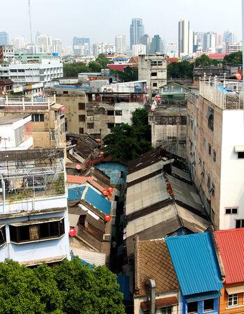 slum: Slum in a big city