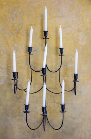 Retro Candle Holder on the Wall