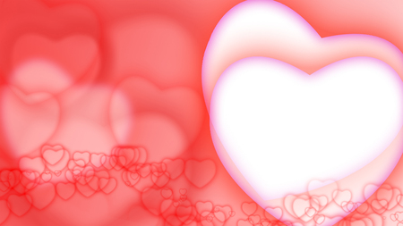 Valentines day background with hearts Stok Fotoğraf