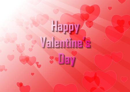 Valentine with light shining from the top left with hearts Stok Fotoğraf
