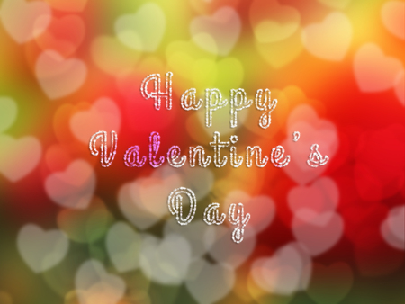 Valentine Background with hearts bokeh
