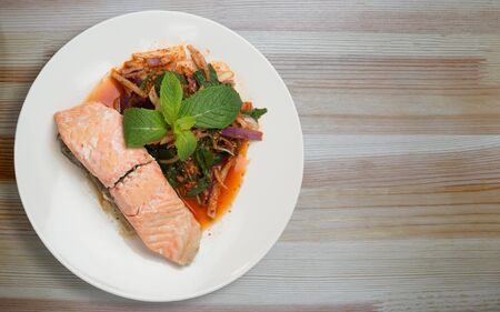 Spicy and Delicious Thai Larb Salmon