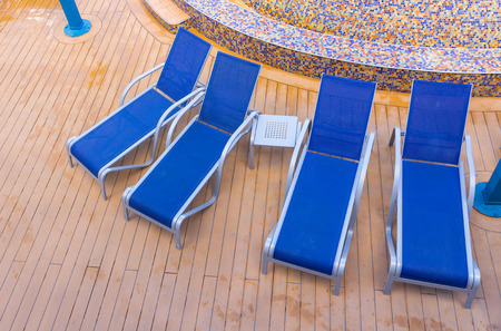 Swimming pool with open air relaxing seats