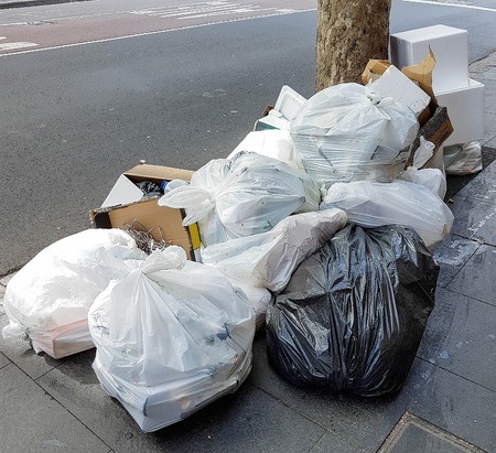 dirty rubbish on the street