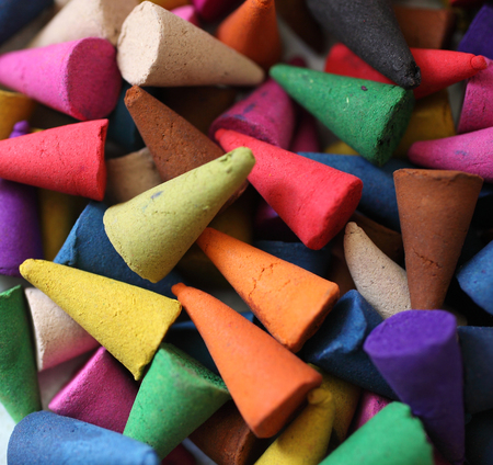 incense cones is colorful, relax and fragrant