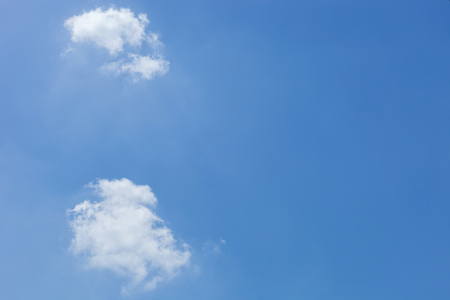 Blue sky and White clouds is beautiful for background Stock Photo