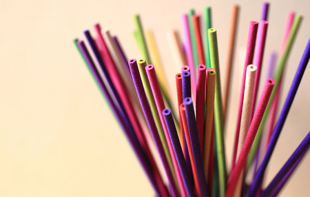 incense sticks is colorful, relax and fragrant Stock Photo