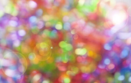 Abstract and Background, Blurred defocused multi color light, Colorful bokeh and vintage style.