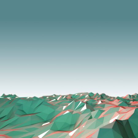 crystal background: Low poly crystal field background.