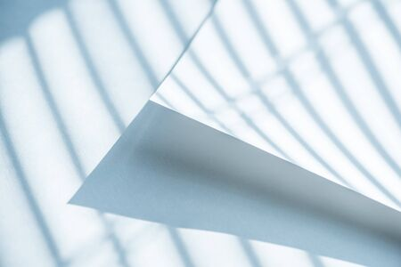 fondo geometrico: Paper sheets under shadow lines. Abstract background. Foto de archivo
