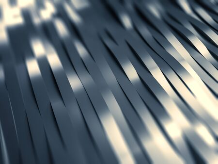 aluminum: Abstract background in form of waved metal stripes. 3d rendering.