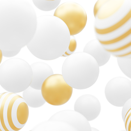 Abstract flowing white and gold particles Stok Fotoğraf