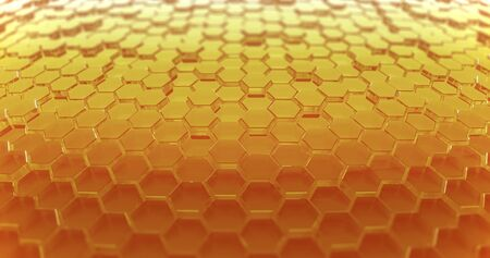 Abstract honeycomb background.