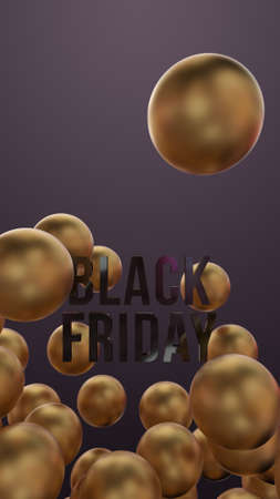 Black Friday among golden balls