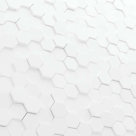 Abstract white hexagons background. 스톡 콘텐츠