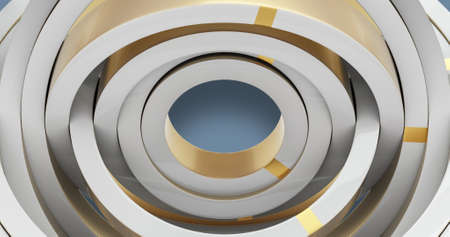 Abstract surface radial background. White and gold