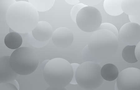 Abstract background of frosted transparent balls floating in air. Banque d'images