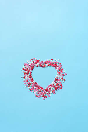 Confectionery confetti in a form of a heart Banque d'images